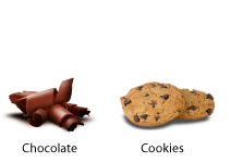 Sabores chocolate y cookies