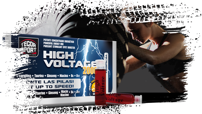 Caja High Voltage con deportista