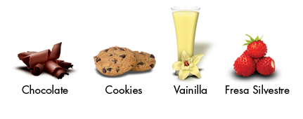 Imágenes de los sabore de Iso Whey Drink