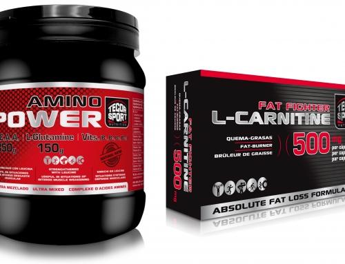 Nuevos Amino Power y L-Carnitine Fat Fighter 500 mg