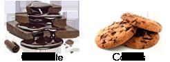 Sabores chocolate y cookies