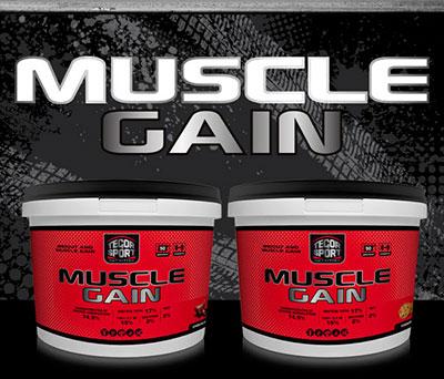 Dos botes de la proteína Muscle Gain