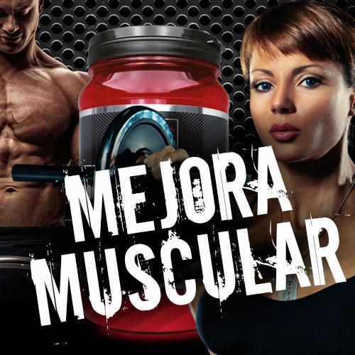 Deportistas con la frase mejora muscular