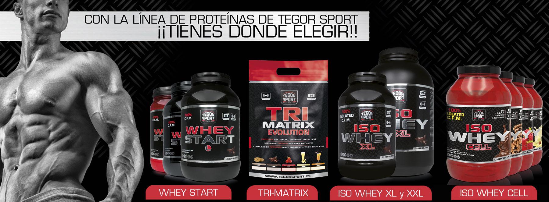 Gama de proteínas de Tegor Sport